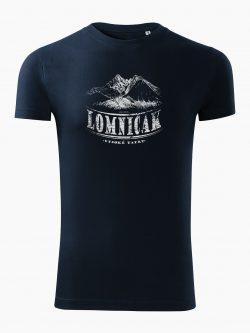Pánske tričko Vysoké Tatry - Lomničák tmavo modré - Také naše
