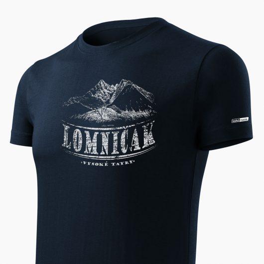 Pánske tričko Vysoké Tatry - Lomničák tmavo modré detail - Také naše