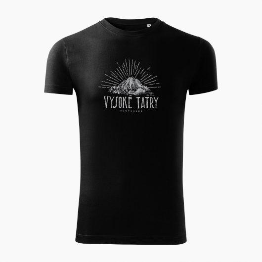 Pánske tričko Vysoké Tatry - Vysoká čierne - Také naše