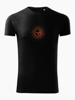 Pánske tričko Kreslené slnko čierne - Také naše