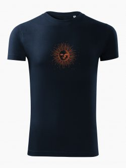 Pánske tričko Kreslené slnko tmavo modré - Také naše