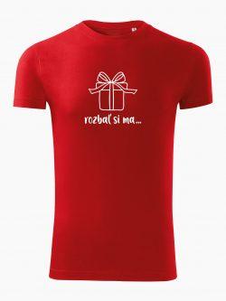 Pánske tričko Rozbaľ si ma červené - Také naše
