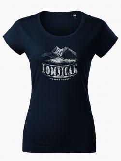 Dámske tričko Vysoké Tatry - Lomničák tmavo modré - Také naše