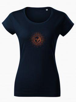 Dámske tričko Kreslené slnko tmavo modré - Také naše