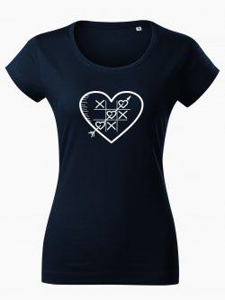 Dámske tričko Piškôrky tmavo modré - Také naše