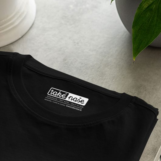 Dámske tričko Vysoké Tatry - Vysoká čierne detail na rukáv - Také naše